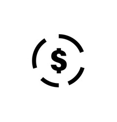 dollar sign icon graphic design template vector image