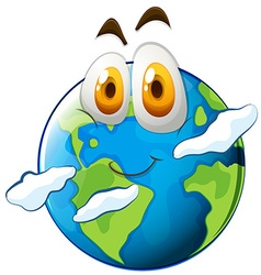 Earth with happy face vector image