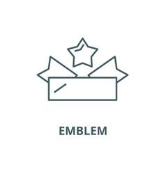 emblem line icon linear concept outline vector image
