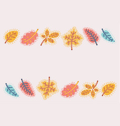 fall autumn colorful leaves background vector image