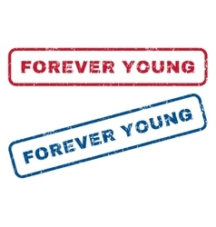 Forever Young Rubber Stamps vector