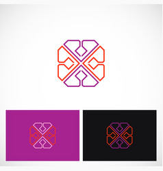 geometry line abstract color logo vector image