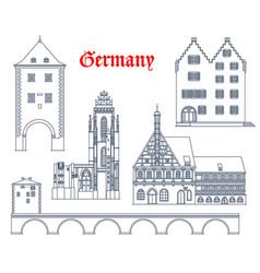Germany travel landmarks bavaria hessen vector