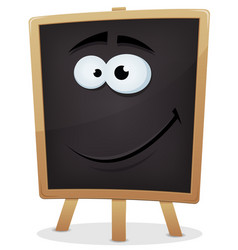 Happy school chalkboard character vector
