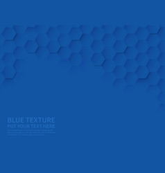 hexagonal texture ocean blue honeycomb 3d vector image