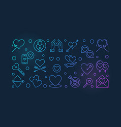 Intimate relationship colored outline vector