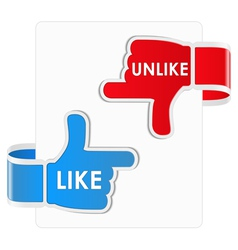 like and unlike stickers vector image
