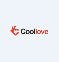 Love red heart icon ok symbol okay logo vector