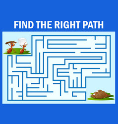 Maze game find a ant s way to ant nest vector
