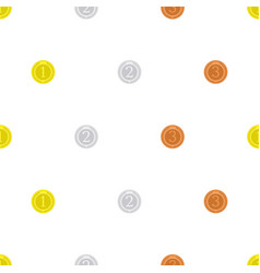 medal seamless background vector image