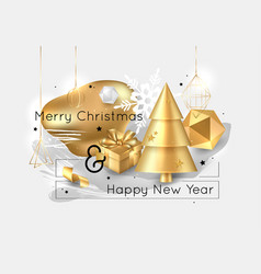 merry christmas and happy new year 2020 collage vector image