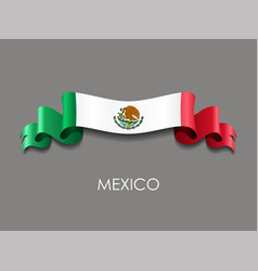 mexican flag wavy ribbon background vector image