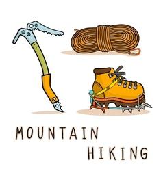 mountain hiking vector image