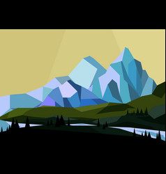 Mountains landscape in vector