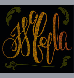 Name isabella on gold texture vector
