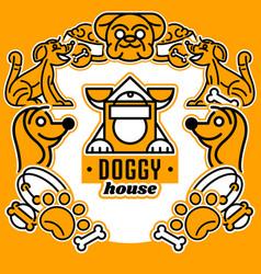 On theme dogs logo vector