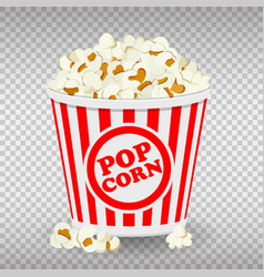 Paper bag full popcorn vector