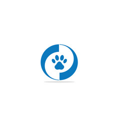 pet foot print logo vector image