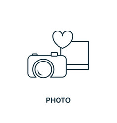 photo outline icon premium style design from vector image