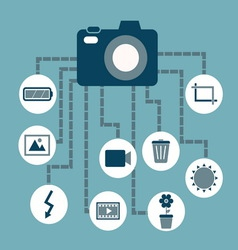 Photography concept idea in flat style vector