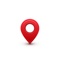 pointer red marker for map destination location vector image
