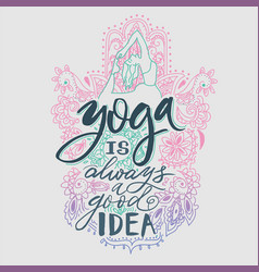 Poster yoga studio and meditation class logo vector