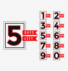 Promotional banner of number of days left vector