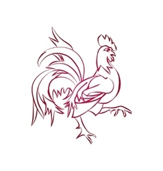 Red rooster is animal symbol of new year 2017 vector image