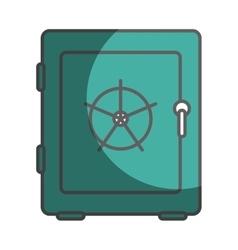 Safe money box icon vector
