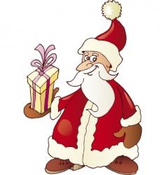 Santa Claus and gift vector image