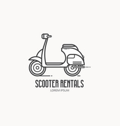 Scooter rentals logo template vector