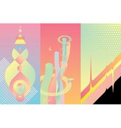 Set of color modern design elements vector image
