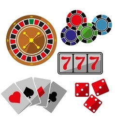 Set of icons for casino vector image