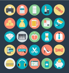 Shopping colored icons 3 vector