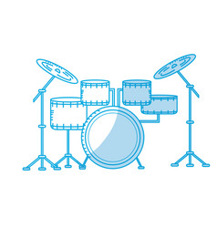 Silhouette drums musical instrument to play music vector