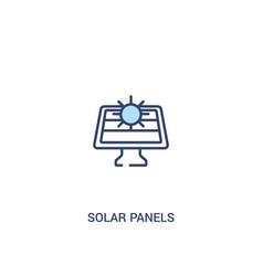Solar panels concept 2 colored icon simple line vector