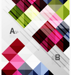 Square elements on gray abstract background vector