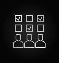 survey silver icon or symbol in thin line vector image