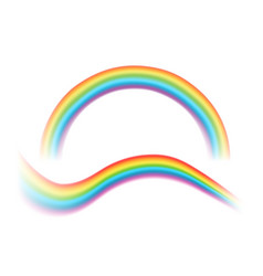 transparent rainbows vector image
