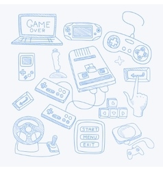 Vidoe Game Related Object Set vector