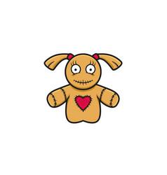 Voodoo girl mascot logo with heart symbol vector