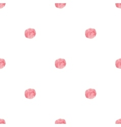 Watercolor handdrawn pink rose polka dot vector image