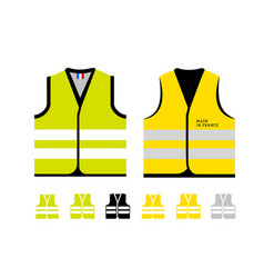 Yellow and light green reflective vests as a vector