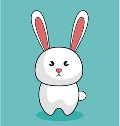 cute rabbit stuffed icon vector image