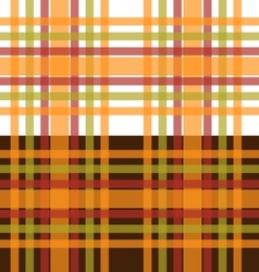 Orange and green plaid seamless background vector image