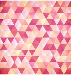 Red abstract triangle vintage background vector image vector image