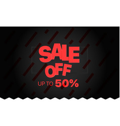 sale banner template sale off vector image vector image