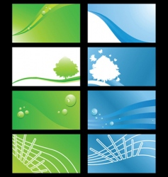 sustainable business cards vector image vector image