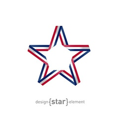 4th July Independence day star from ribbon vector image