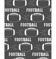 American football ball rocket seamless pattern in vector image vector image